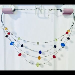 Costume Jewelry - Layered Beaded Necklace
